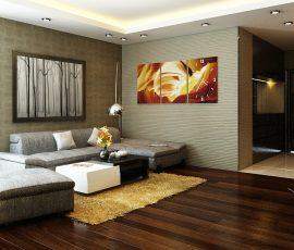 Giấy dán tường chung cư và những lưu ý