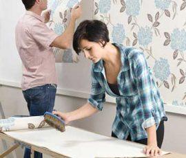 Tự dán giấy dán tường không khó
